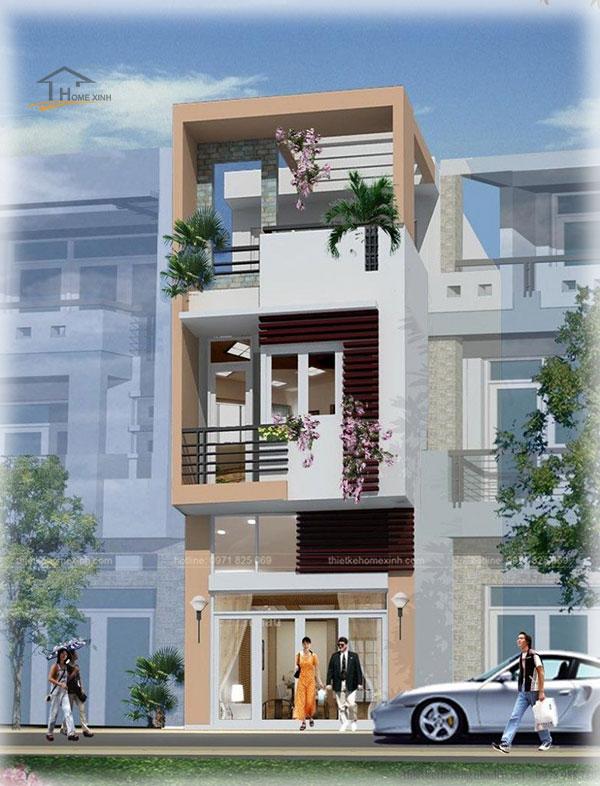 Mẫu thiết kế biệt thự phố 4