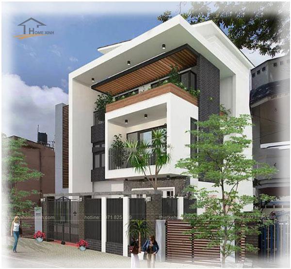 Mẫu thiết kế biệt thự phố 6