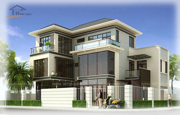 HomeXinh - Mẫu thiết kế biệt thự phố 7