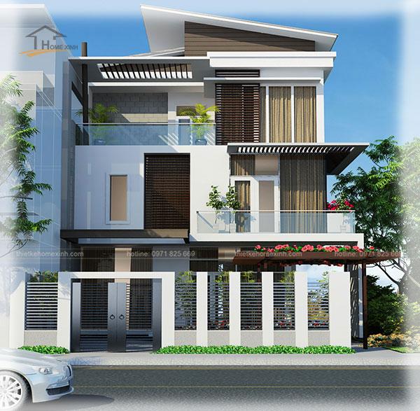 HomeXinh - Mẫu thiết kế biệt thự phố 8