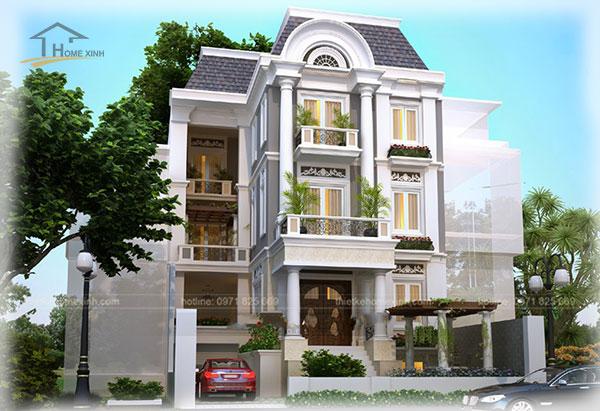 HomeXinh - Mẫu thiết kế biệt thự phố 9