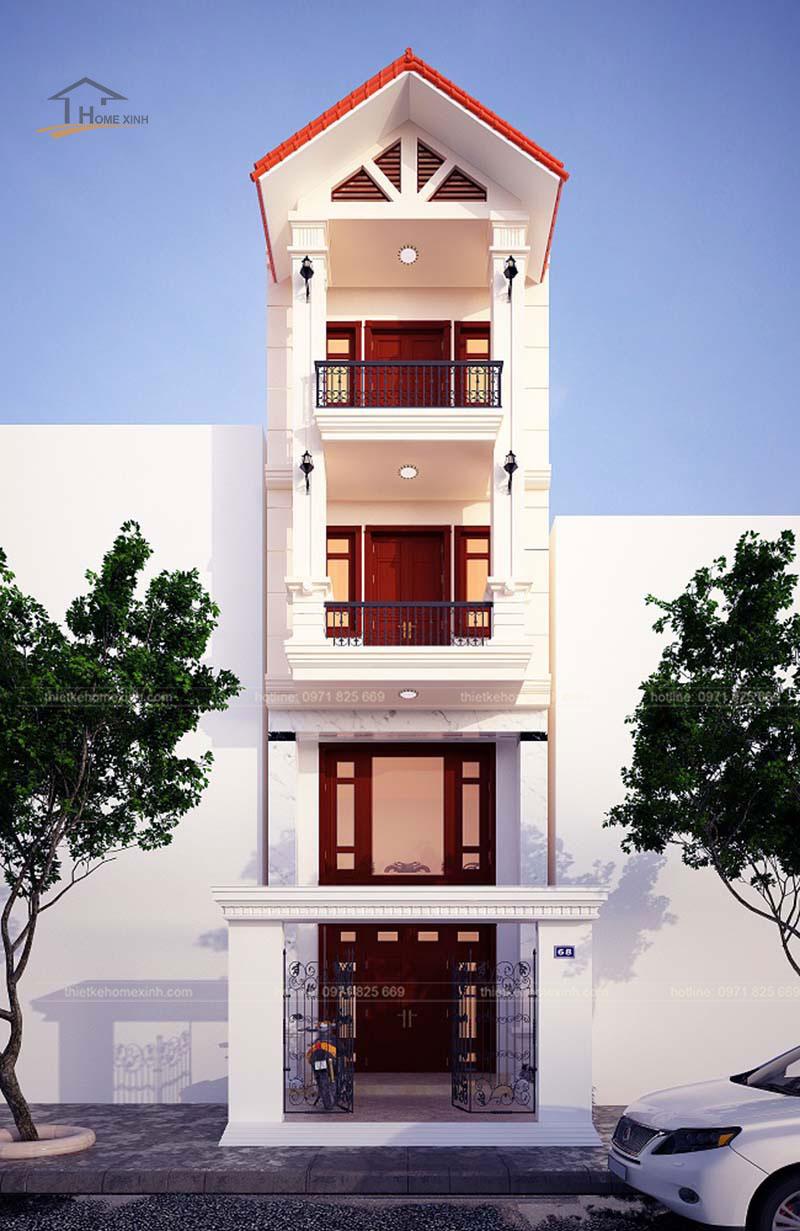 Tư vấn thiết kế nhà phố 5x20m hiện đại tại Hà Giang - ảnh 1