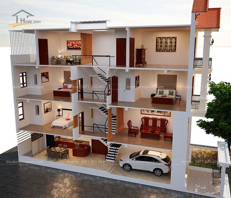Tư vấn thiết kế nhà phố 5x20m hiện đại tại Hà Giang - ảnh 3