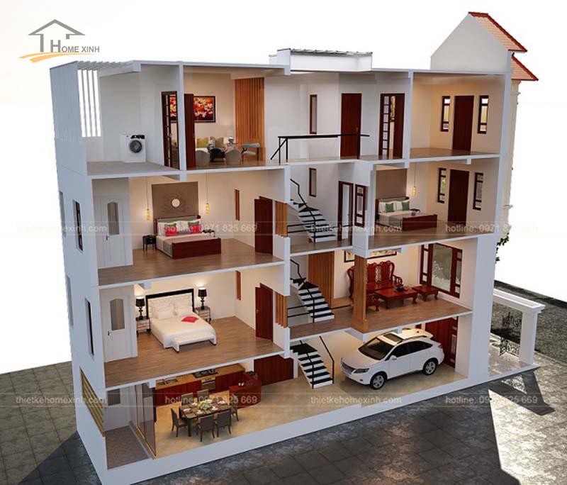 Tư vấn thiết kế nhà phố 5x20m hiện đại tại Hà Giang - ảnh 4