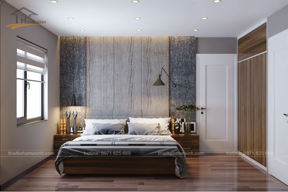 Thiết kế nội thất phòng ngủ master chung cư CT14 Greenpark