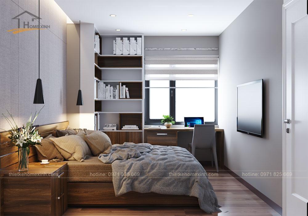 Thiết kế phòng ngủ nhỏ đầy đủ tiện nghi