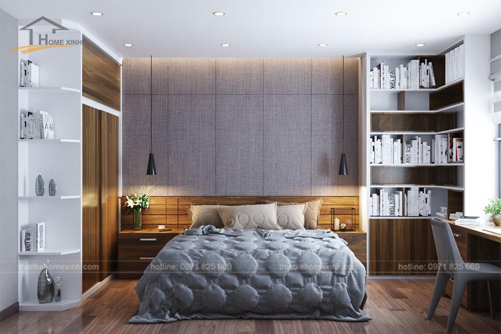 Thiết kế nội thất phòng ngủ nhỏ nhẹ nhàng, tinh tế