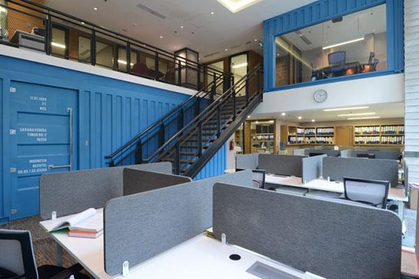 Không gian văn phòng sử dụng hình khối đầy cá tính