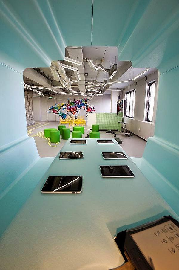 Thiết kế văn phòng theo phong cách trừu tượng