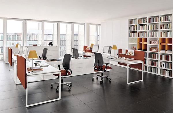 Thiết kế nội thất văn phòng pha trộn màu sắc hiện đại