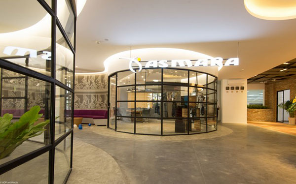 Mẫu thiết kế văn phòng công ty thời trang Asmara