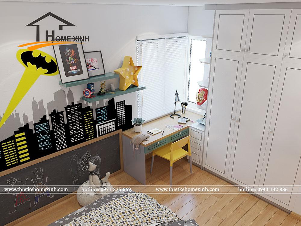 Trang trí phòng ngủ bé theo chủ đề hoạt hình, siêu nhân
