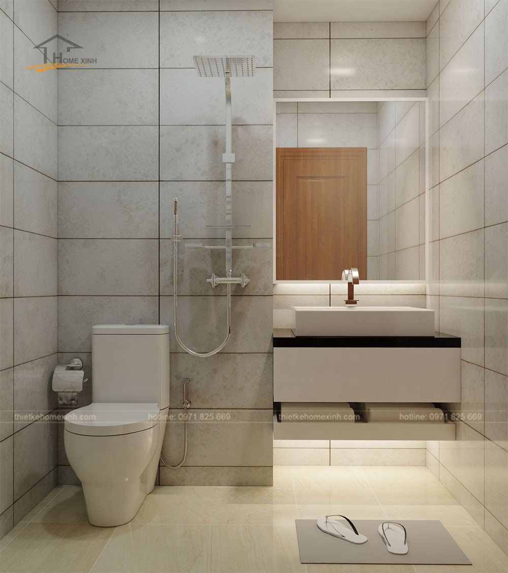 Thiết kế phòng vệ sinh chung tại căn hộ flc 418 quang trung
