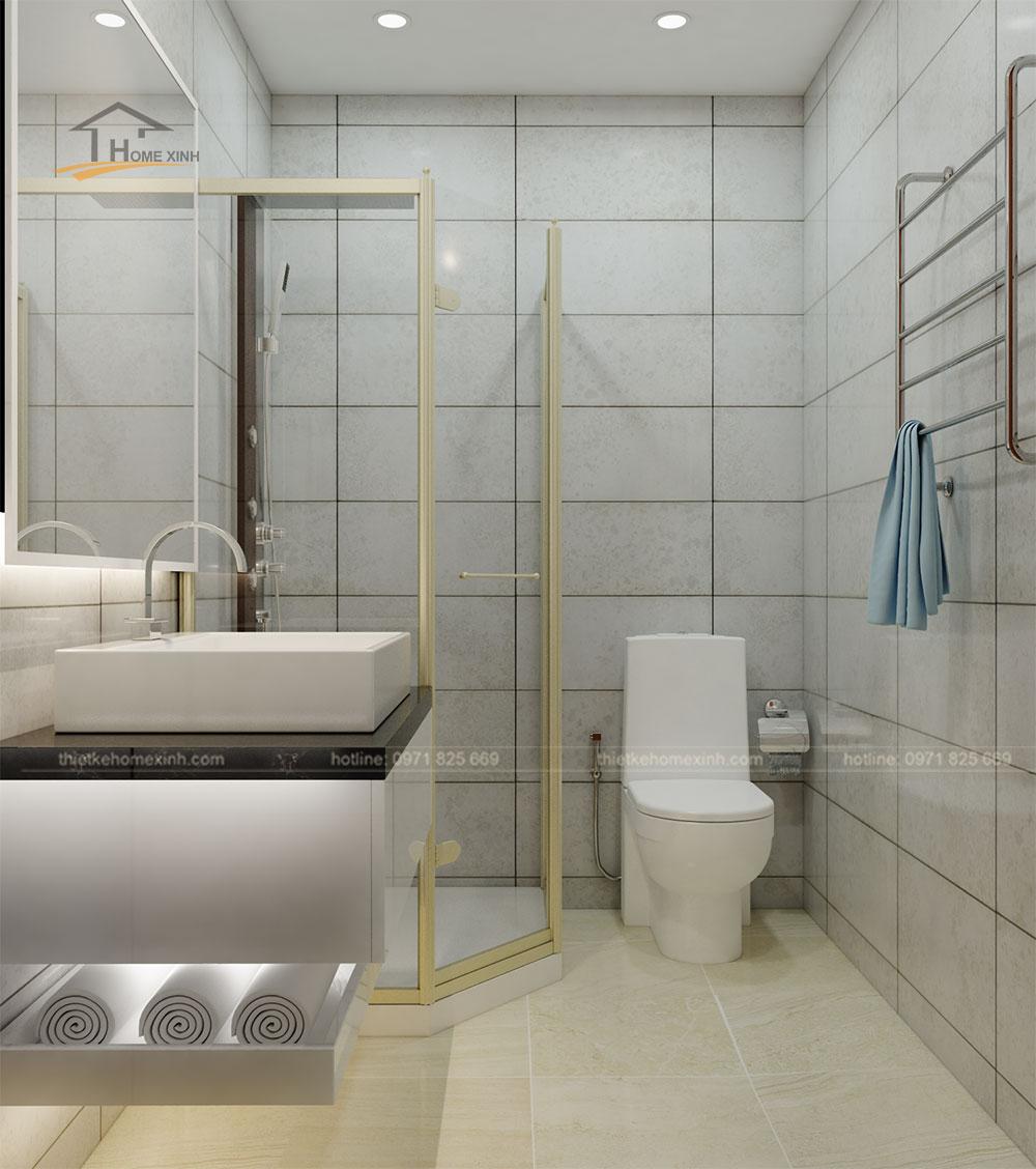 Thiết kế phòng vệ sinh đầy đủ tiện nghi