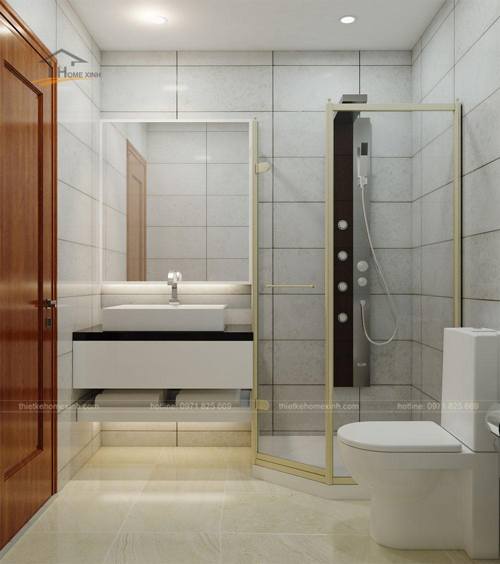 thiết kế phòng wc hiện đại trong phòng ngủ master
