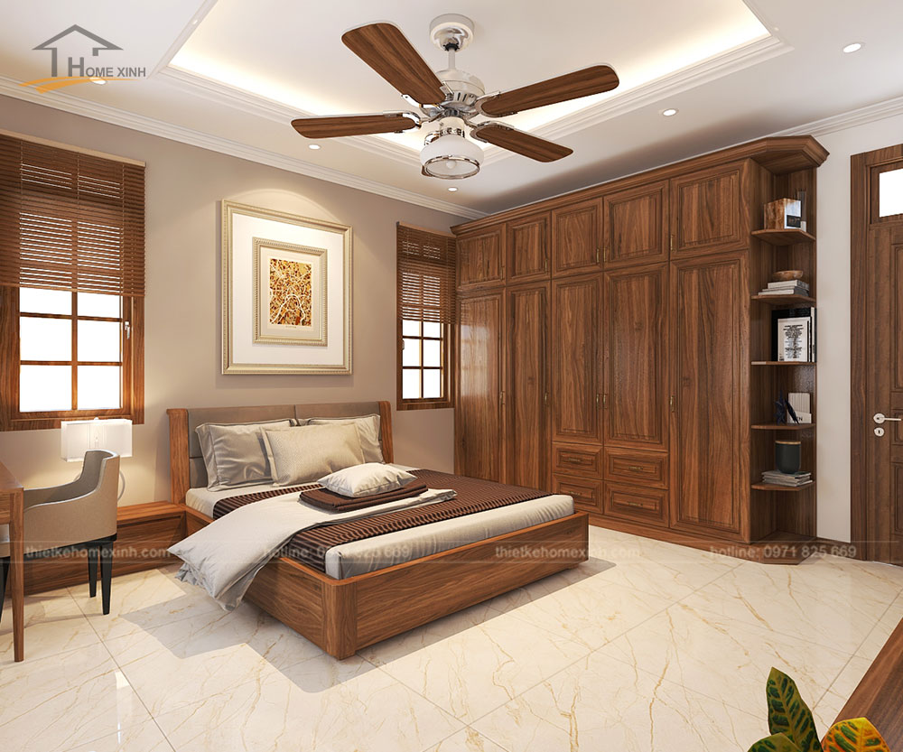 Gỗ tự nhiên giúp cho phòng ngủ mát mẻ hơn