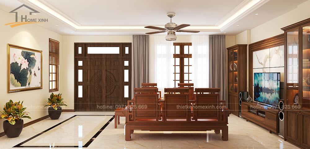Không gian phòng khách được thiết kế thông thoáng