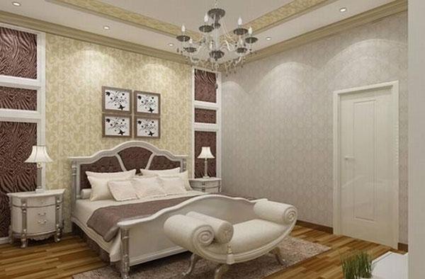 Không gian nội thất phòng ngủ tân cổ điển thường được bố trí cầu kỳ, chi tiết