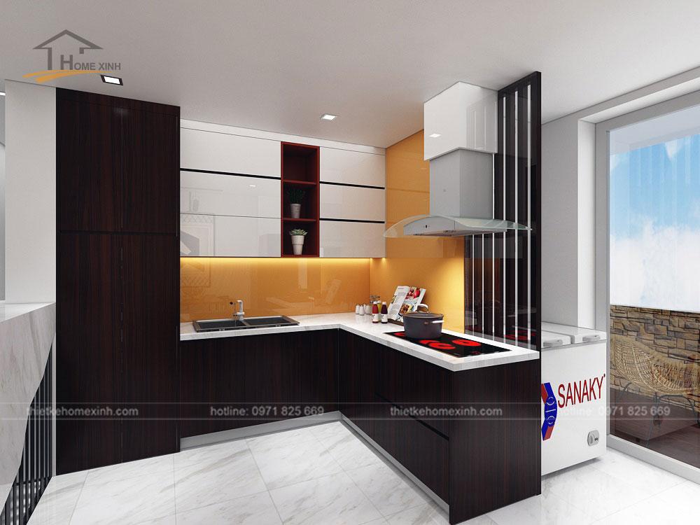 Không gian phòng bếp đầy đủ tiện nghi