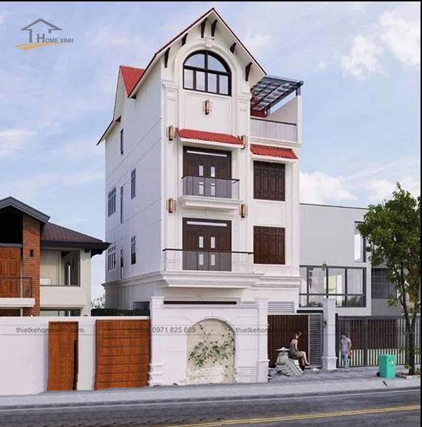 Thiết kế nhà phố mặt tiền 8m kiểu dáng hiện đại