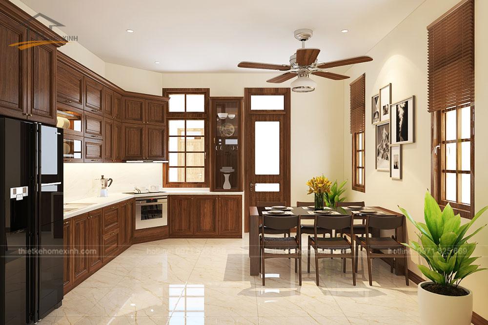 thiết kế bếp rộng rãi