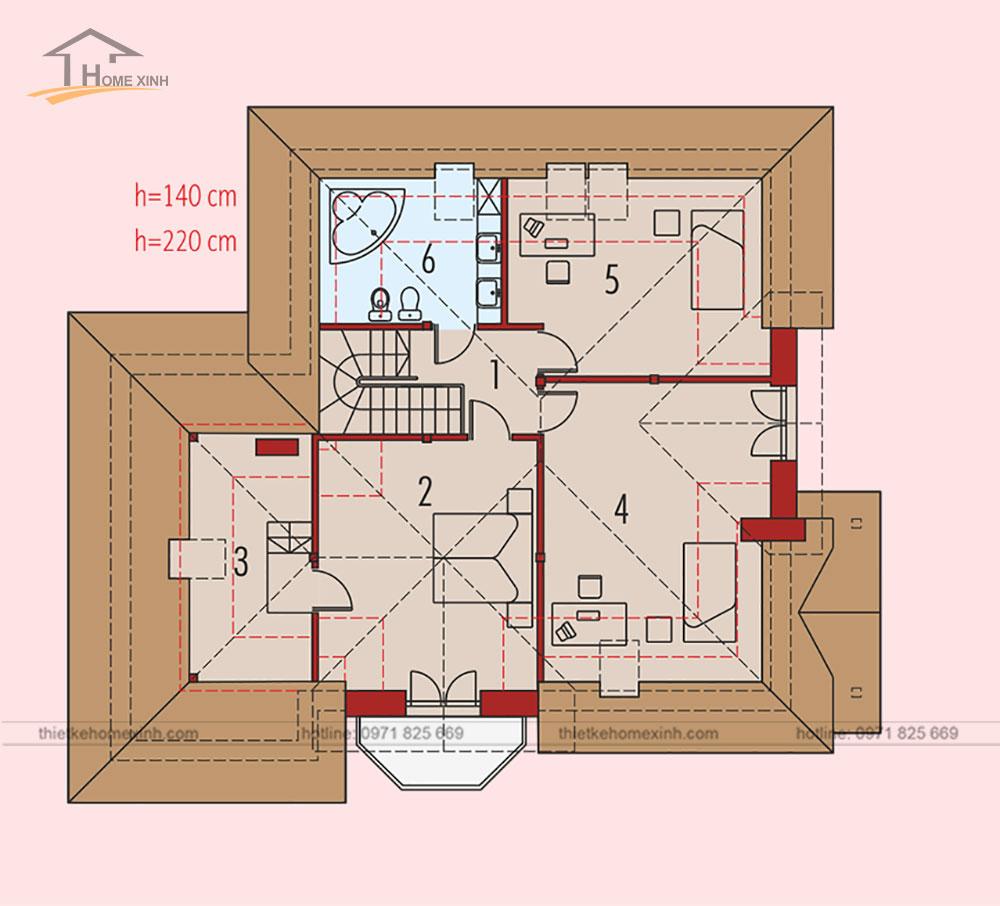 bản vẽ thiết kế kiến trúc nhà vườn đẹp lung linh như truyện cổ tích 2