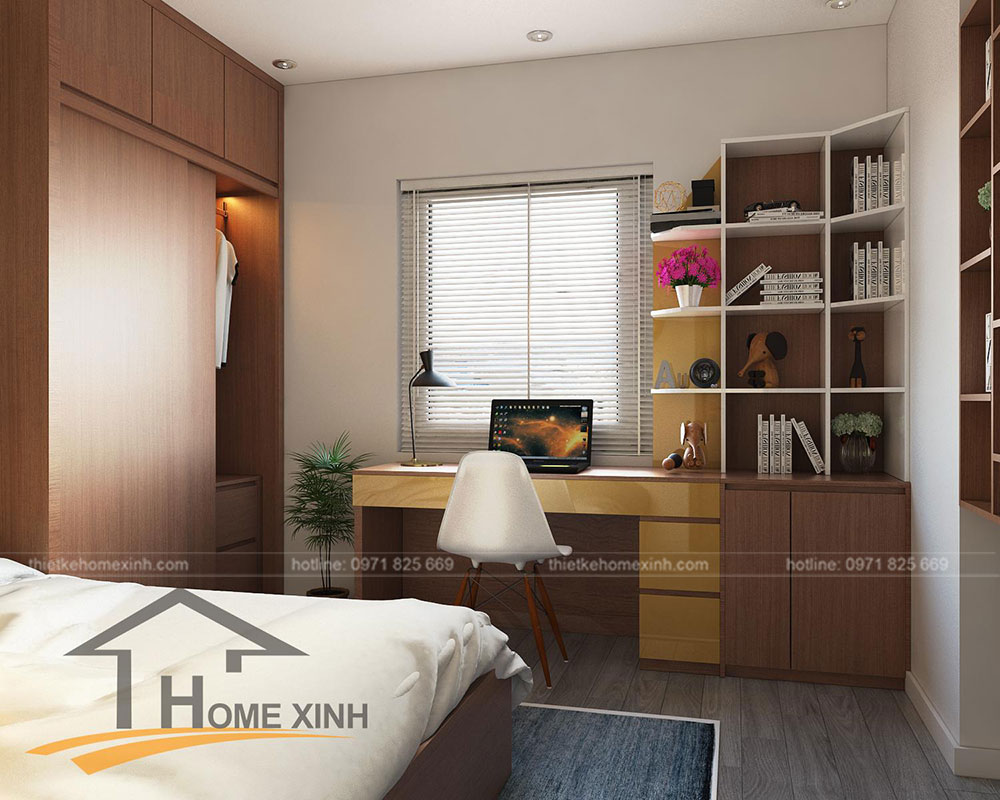 nội thất phòng ngủ trẻ em căn hộ 110m2 tại Rainbow Linh Đàm 2