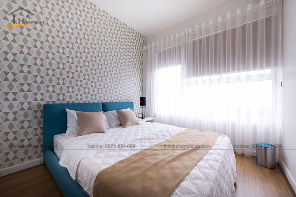 thi công nội thất căn hộ 80m2 tại vicoland hải châu - phòng khách 6