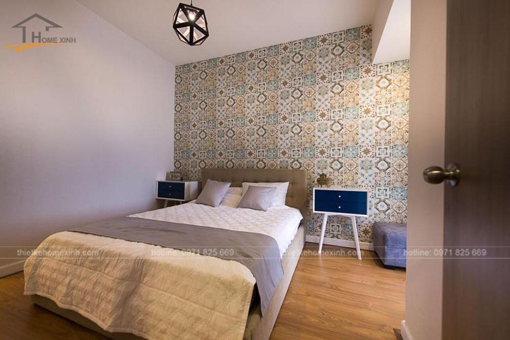 thi công nội thất căn hộ 80m2 tại vicoland hải châu - phòng khách 8
