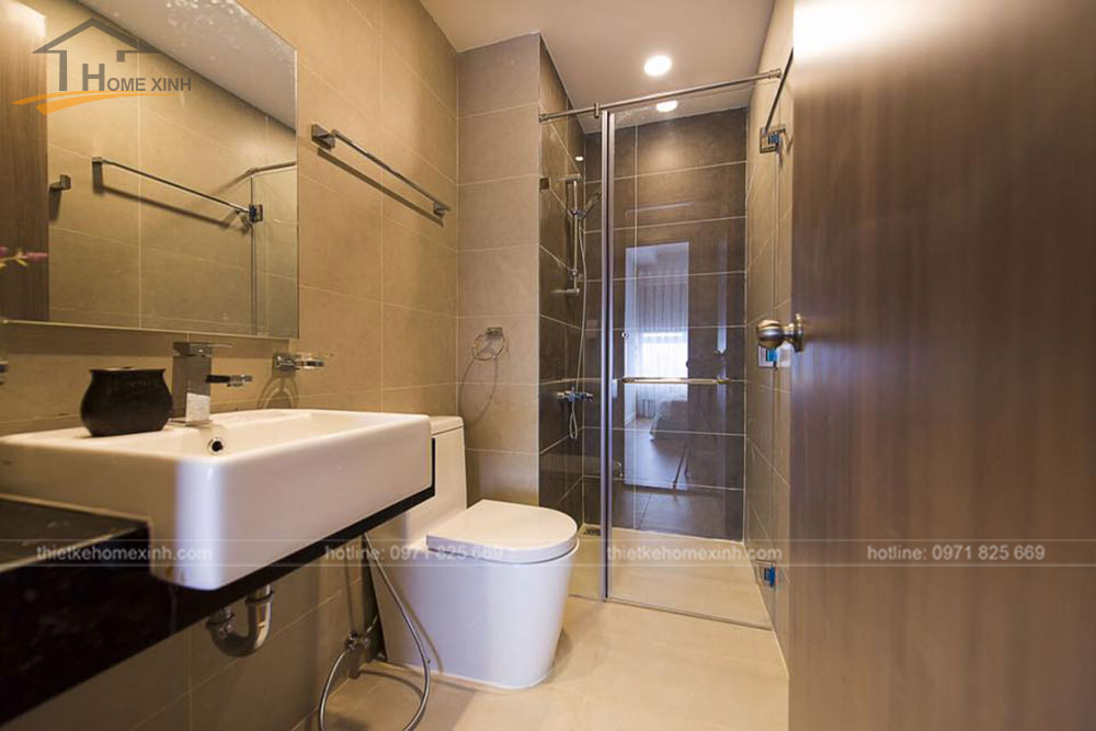 thi công nội thất căn hộ 80m2 tại vicoland hải châu - phòng khách 10