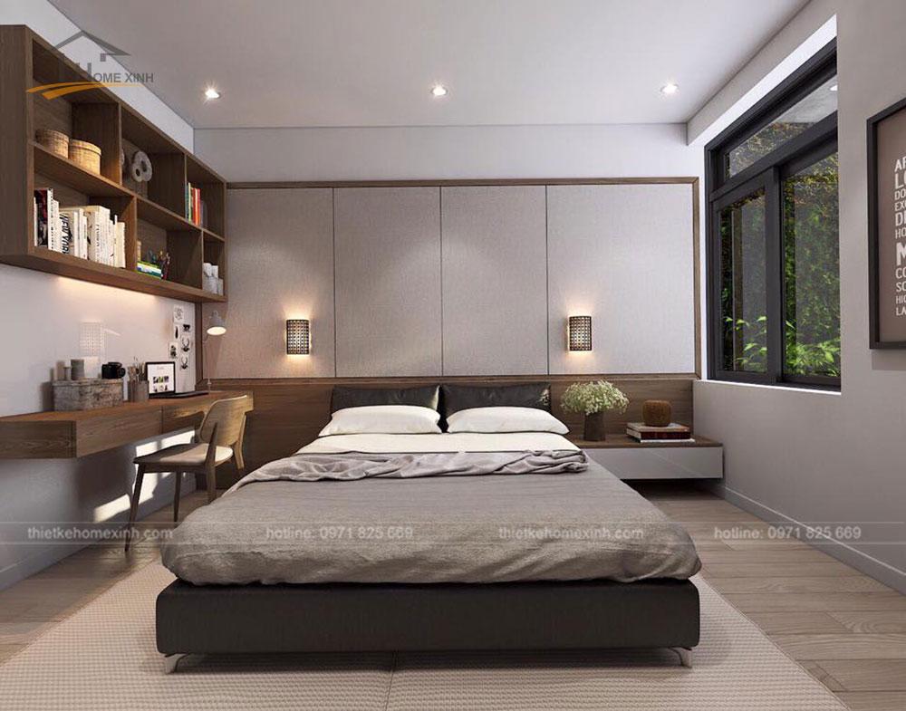 Thiết kế phòng ngủ nhỏ ngăn nắp, hiện đại