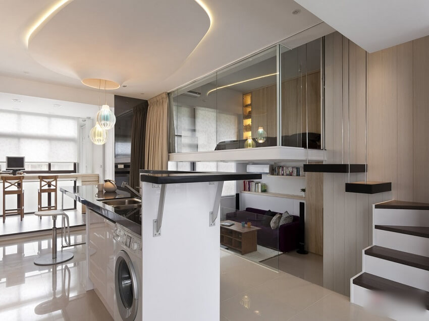 Interior design of single apartment - Studio apartment ...