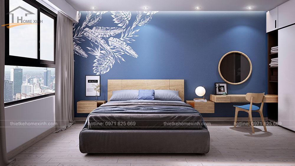 thiết kế căn hộ tại chung cư kingston residence 110m2 - phòng ngủ master 2