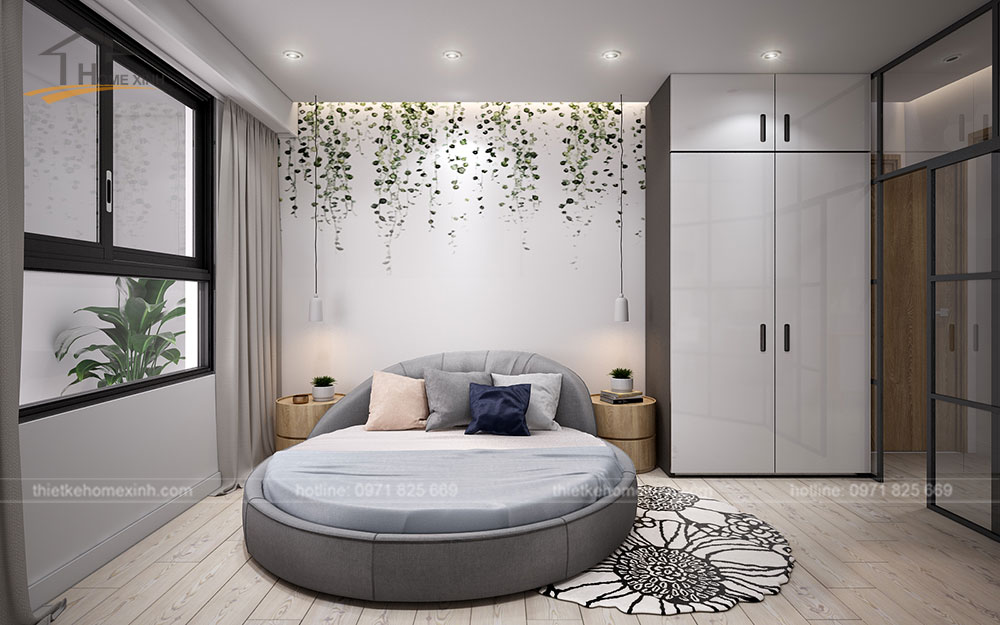 thiết kế căn hộ tại chung cư kingston residence 110m2 - phòng ngủ nhỏ 1