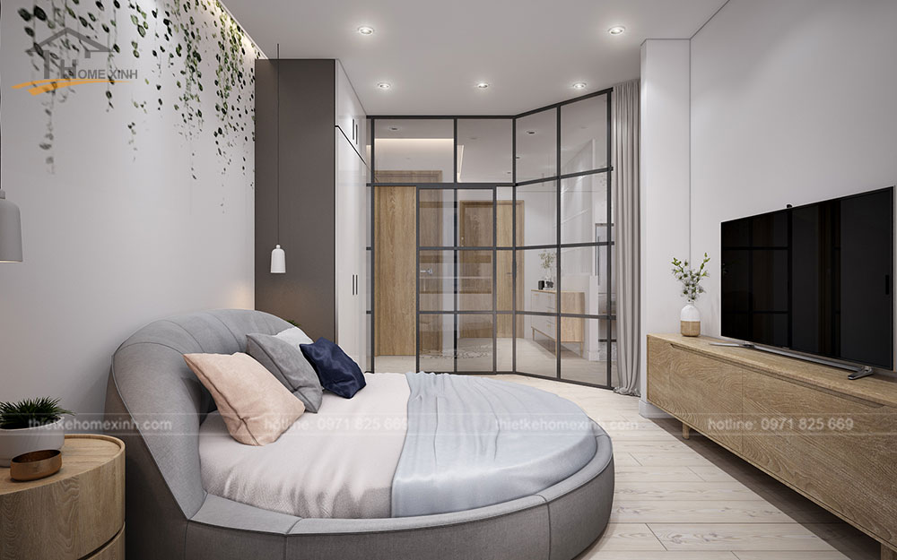 thiết kế căn hộ tại chung cư kingston residence 110m2 - phòng ngủ nhỏ 2
