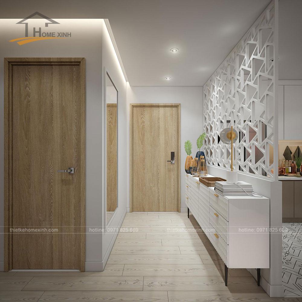 thiết kế căn hộ tại chung cư kingston residence 110m2 - sảnh ra vào