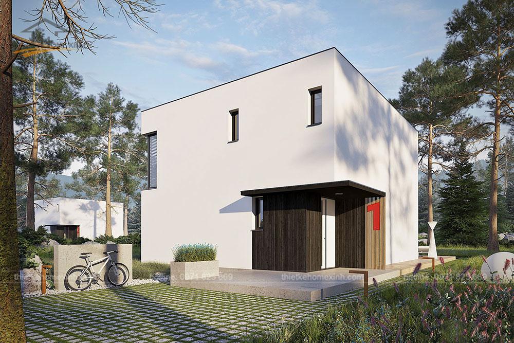 Thiết kế kiến trúc nhà vườn 2 tầng mái bằng hiện đại 2
