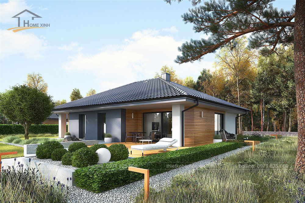thiết kế nhà vườn 1 tầng đẹp tại Ba Vì Hà Nội