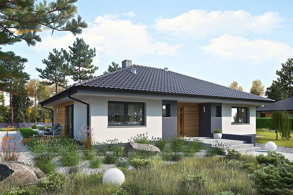Thiết kế nhà vườn 1 tầng đẹp tại Ba Vì, Hà Nội 2