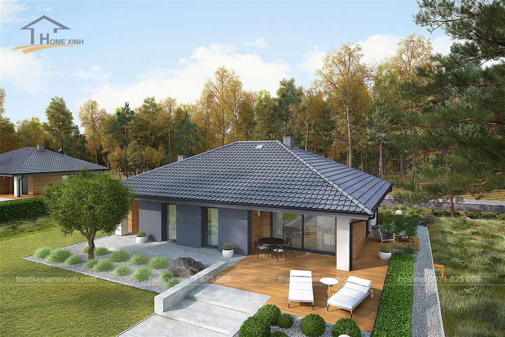 Thiết kế nhà vườn 1 tầng đẹp tại Ba Vì, Hà Nội 3