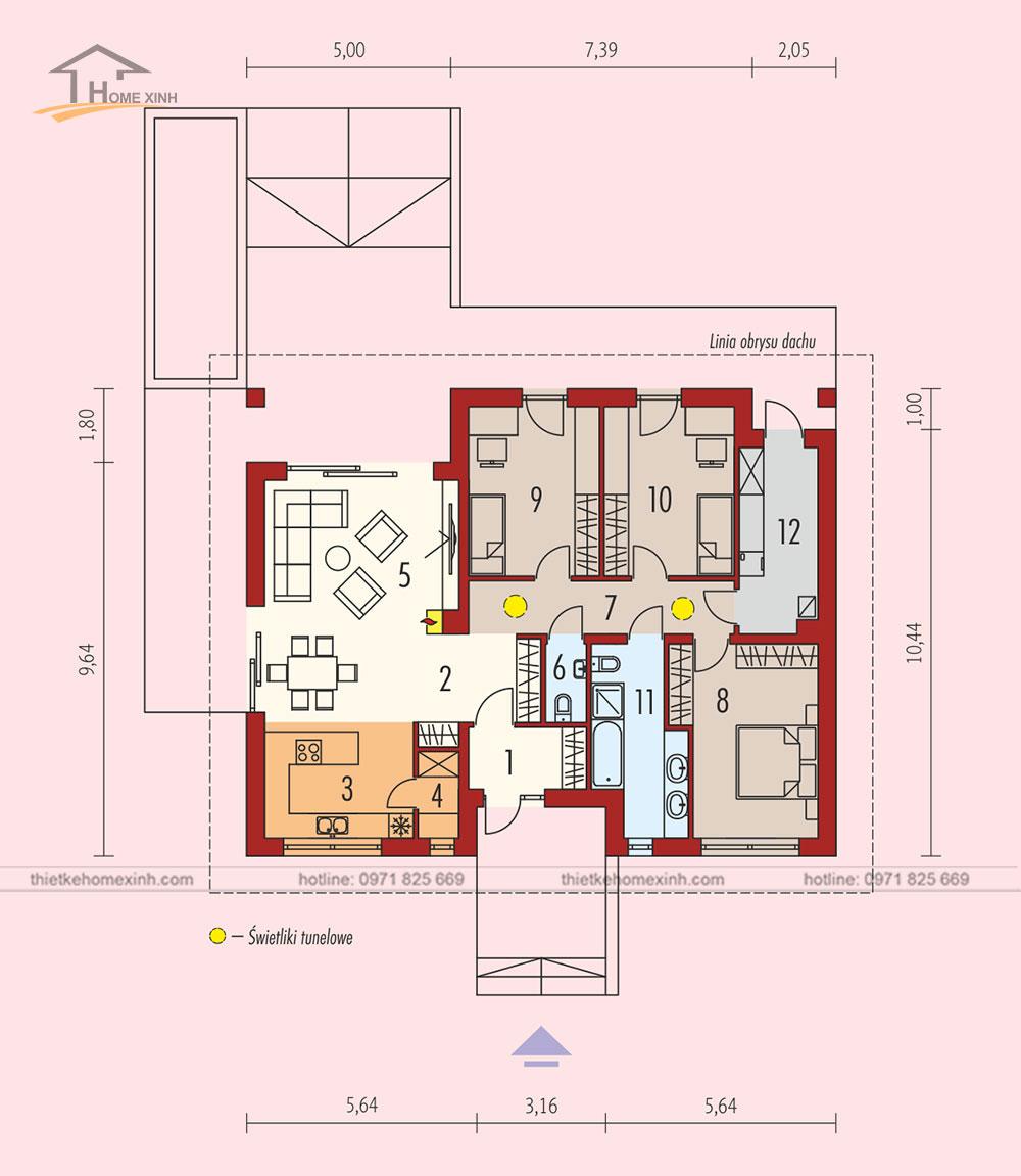 Bản vẽ thiết kế nhà vườn 1 tầng đẹp tại Ba Vì, Hà Nội