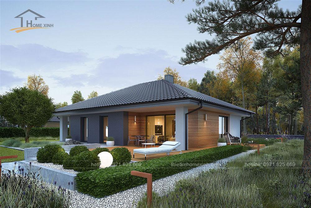 Thiết kế nhà vườn 1 tầng đẹp tại Ba Vì, Hà Nội 4