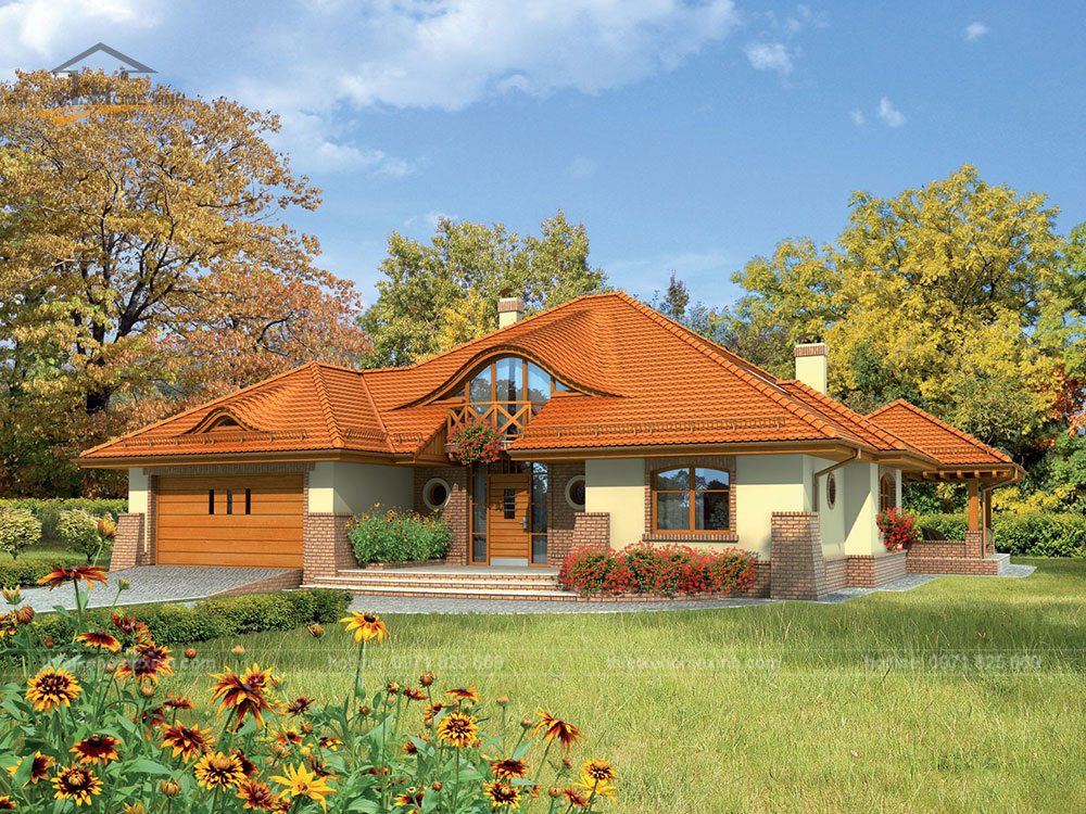 2-storey garden house designs in rural areas 1