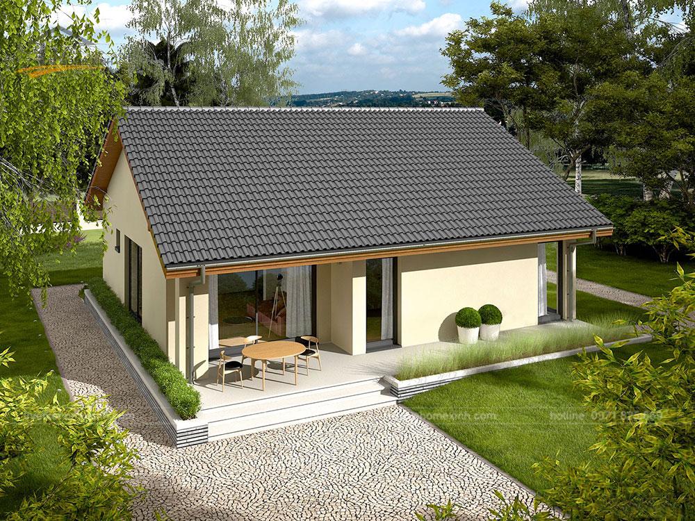 thiết kế nhà vườn cấp 4 tại Thái Nguyên 3