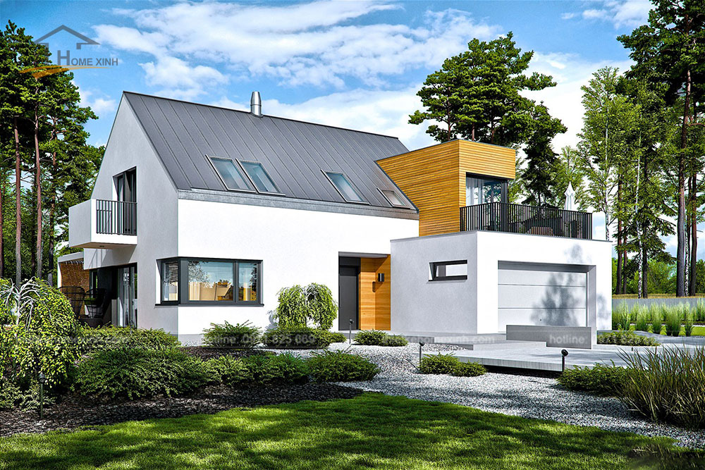 Thiết kế nhà vườn mái thái hiện đại tại Hòa Bình 2