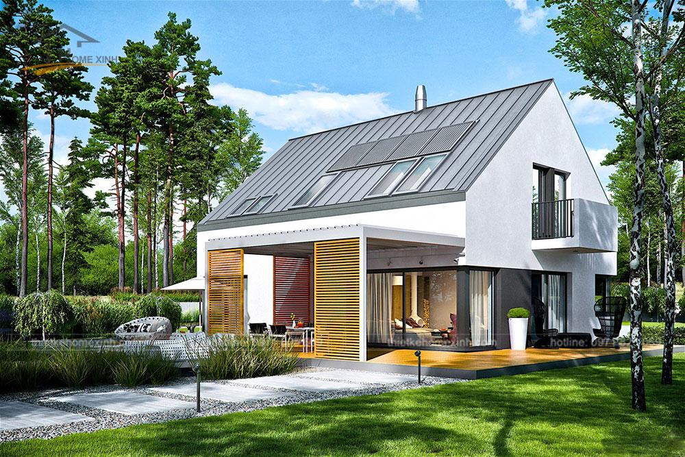 Thiết kế nhà vườn mái thái hiện đại tại Hòa Bình 3
