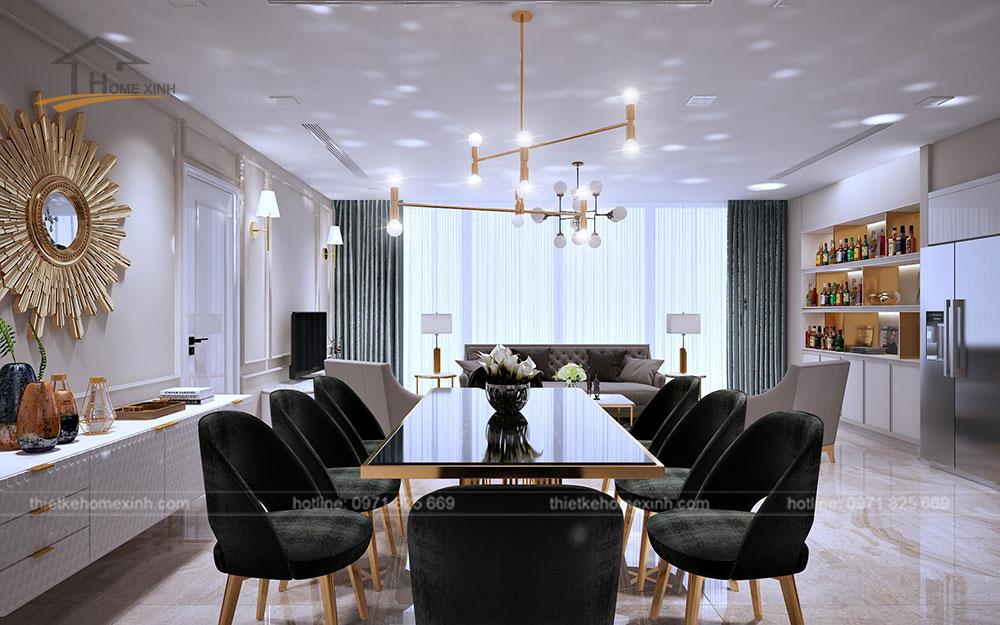 Thiết kế nội thất chung cư tại Vinhomes Golden River - bàn ăn 2