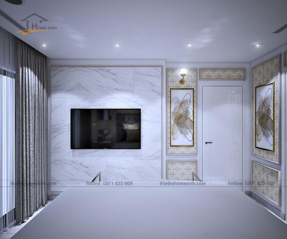 Thiết kế nội thất chung cư tại Vinhomes Golden River - phòng ngủ 2