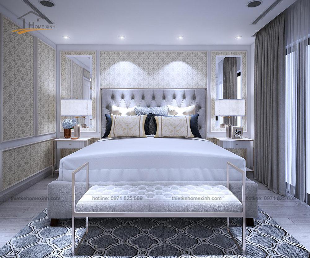 Thiết kế nội thất chung cư tại Vinhomes Golden River - phòng ngủ 4