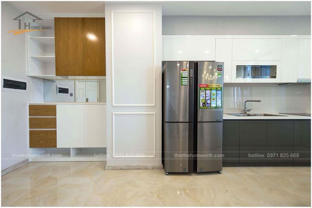 thiết kế phòng bếp chung cư 65m2 tại vinhomes golden river 1